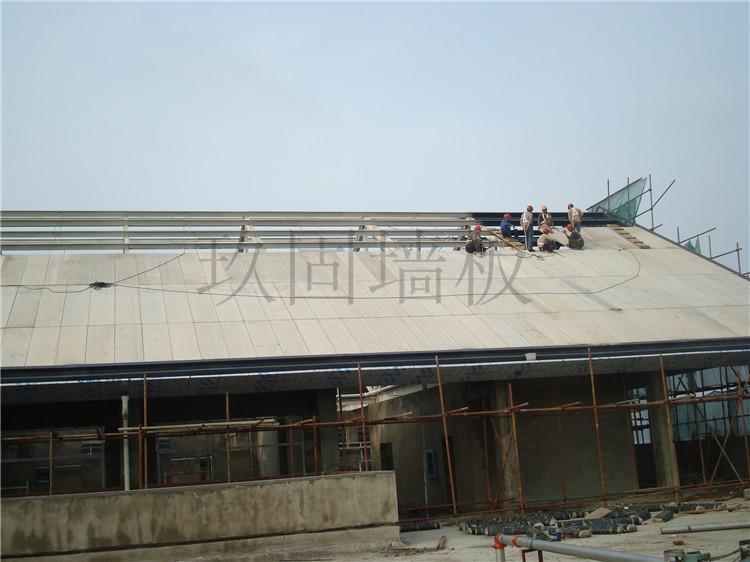 新型轻质复合墙板屋顶应用